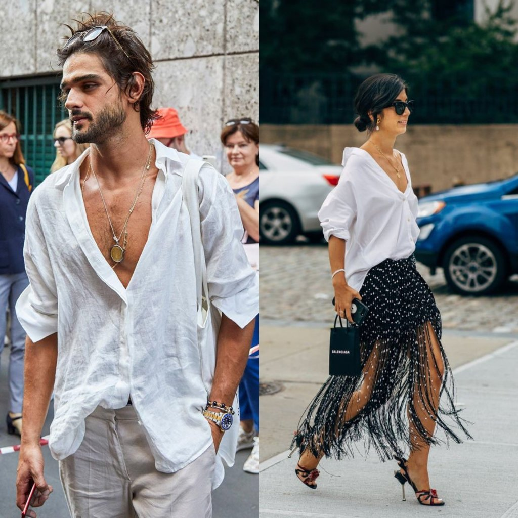 White shirt Street style outfit ideas