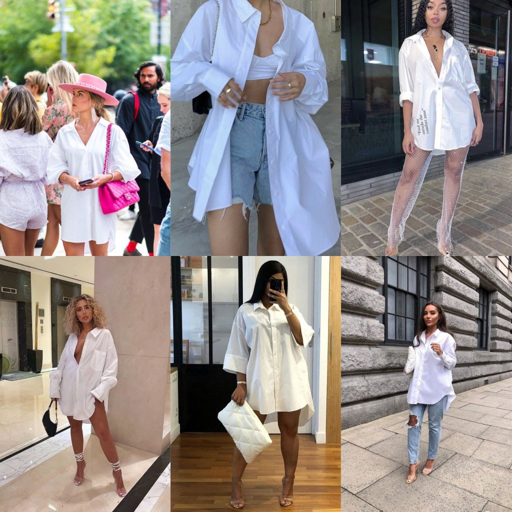 Oversize white shirt outfit ideas